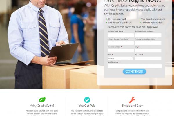 Credit Suite Landing Page